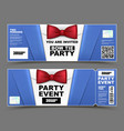 horizontal cocktail party event invitations vector image vector image