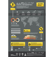 infographic traffic set vector image