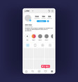 insta profile interface social media personal vector image
