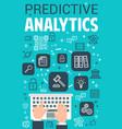 internet predictive analytics poster vector image vector image
