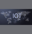 internet things iot ict icon innovation vector image vector image