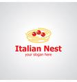 italian nest vector image vector image