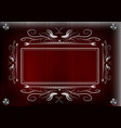 lacy frame for photography on a red background vector image vector image