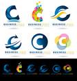 Letter C Logo Designs vector image vector image