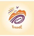 logo travel company Tourist trip The vector image