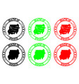 made in sudan rubber stamp vector image vector image