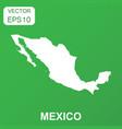 mexico map icon business concept mexico pictogram vector image vector image
