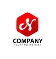 n company logo template design vector image vector image