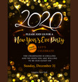 new year 2020 invitation vector image vector image