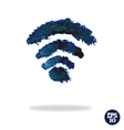 Oil painted wireless network symbol vector image vector image