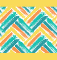 painted chevron pattern blue yellow background vector image vector image