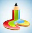 pencil as symbol of visual art vector image vector image