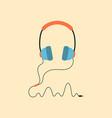 podcast headphones vector image vector image
