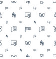 ribbon icons pattern seamless white background vector image vector image