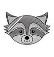 scribble raccoon face cartoon vector image vector image