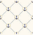 seamless elegance pattern with anchors vector image vector image