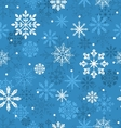 Seamless Texture with Variation Snowflakes vector image