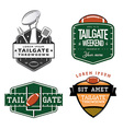 Set of American football tailgate design elements