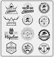 Set of hipster insignia logo design for logo vector image vector image