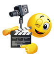 smiley emoticon like film director smiley is vector image