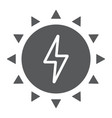 solar energy glyph icon ecology and energy vector image vector image