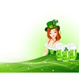St Patrick's day girl background vector image vector image