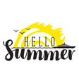 summer banner with inscription sea and steamship vector image vector image