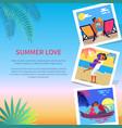 summer love photos near text vector image