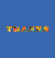 thanks concept word art vector image vector image
