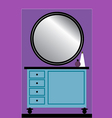 Toilet table with Mirror vector image vector image