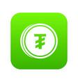 tugrik coin icon digital green vector image vector image