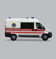 ukrainian ambulance special medical vehicles vector image vector image