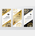 vertical business gold black white banners vector image vector image