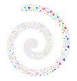warning fireworks spiral vector image