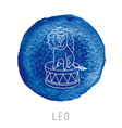 Watercolor of the lion Leo vector image