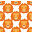 tiger head royal seamless pattern background with vector image