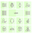 14 user icons vector image vector image