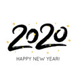 2020 happy new year with gold glitter confetti vector image vector image