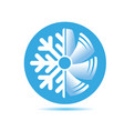 air conditioner icon flat design vector image