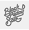 Black Friday Sale Lettering Badge vector image