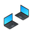 black realistic isometric laptop with blank vector image vector image
