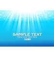 Blue underwater background with sunbeams vector image vector image