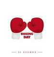 boxing day design with red boxing gloves good vector image vector image