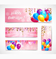 Celebration Banners Set vector image
