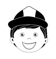 child dressed as engineer icon image vector image vector image