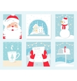 Christmas and Winter Holidays Cards Santa vector image vector image