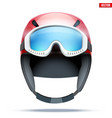 classic ski helmet with goggles vector image vector image