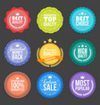 collection modern flat design styled labels vector image