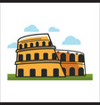 colosseum historic building vector image