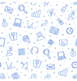 Communicationbusiness pattern blue icons vector image